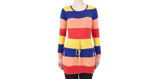 Dámske farebné pruhované šaty Ginger and Soul