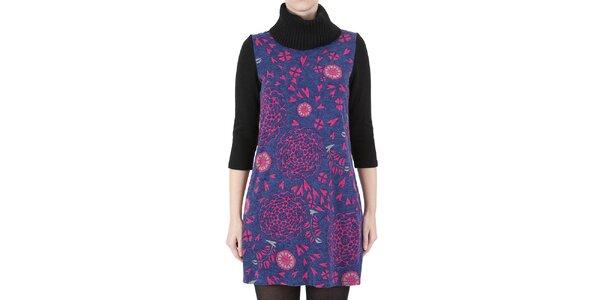 Dámske šaty s ružovou kvetinovou potlačou Ginger and Soul