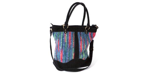 Dámska farebná kabelka s čiernymi prvkami Ginger and Soul