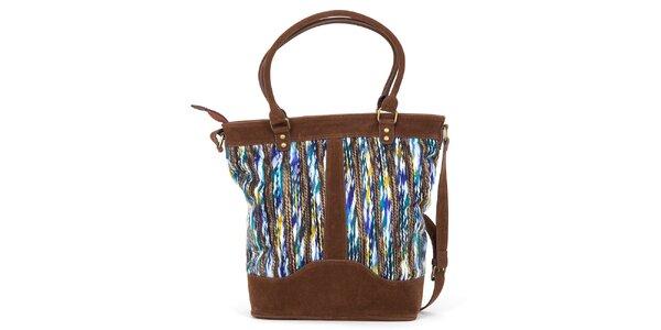 Dámska farebná kabelka s hnedými prvkami Ginger and Soul