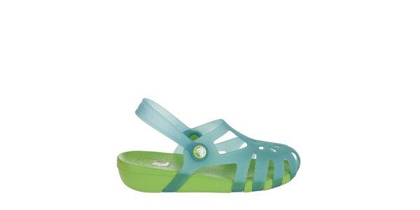 Dievčenské modré sandálky Crocs