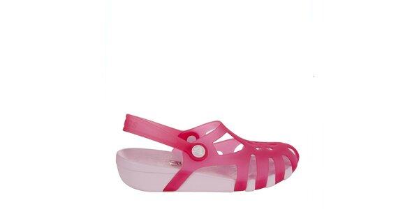 Dievčenské malinové sandálky Crocs
