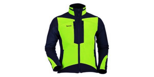 Pánska zeleno-čierna softshellová bunda Izas