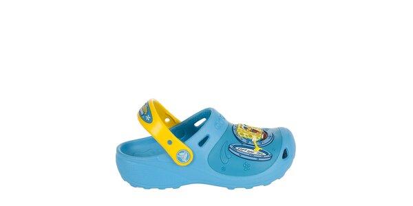 Chlapčenské žlto modré papuče Crocs
