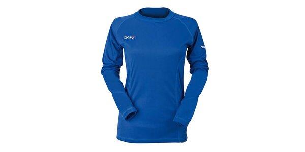 Dámske modré funkčné tričko s dlhým rukávom Izas
