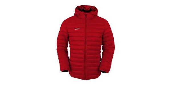 Pánska červená páperová bunda s kapucňou Izas