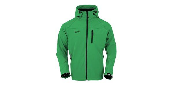 Pánska zelená softshellová bunda Izas