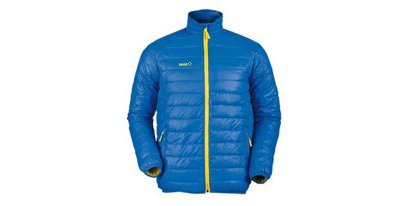 Pánska prešívaná páperová bunda v modrej farbe Izas