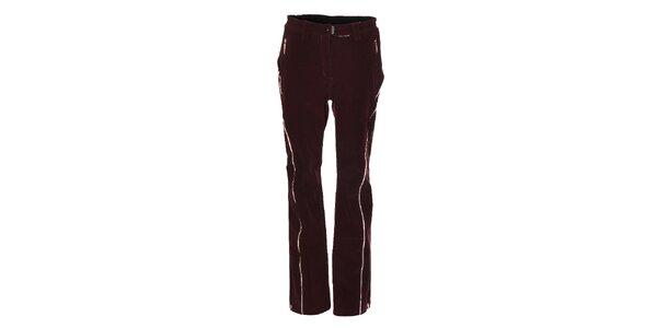 Dámske tmavo fialové softshellové lyžiarske nohavice Trimm