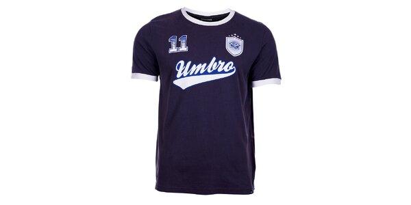 Pánske tmavo modré tričko Umbro s potlačou