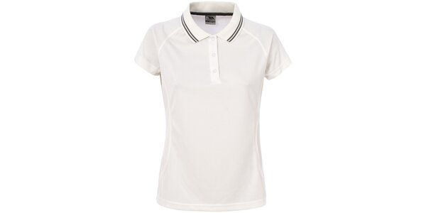 Dámske krémovo biele polo tričko Trespass