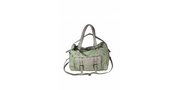 Dámska šedo-zelená taška Tantra