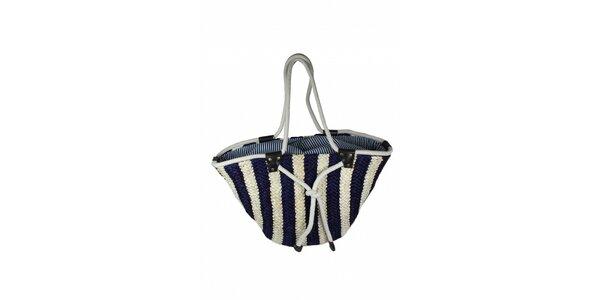 Dámska modro-biela taška z morskej trávy Tantra
