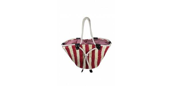 Dámska červeno-biela taška z morskej trávy Tantra