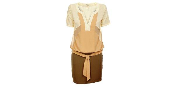 Dámske béžovo-krémové šaty Lucy Paris