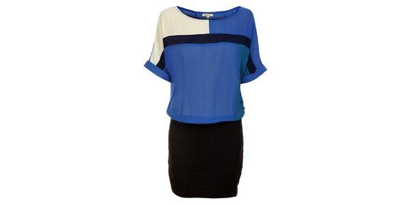 Dámske modro-čierne šaty Lucy Paris