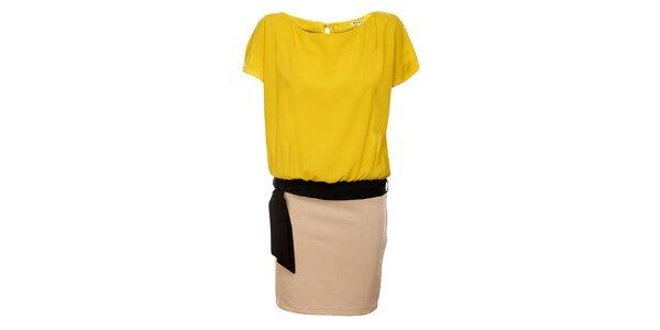 Dámske žlto-béžové šaty Lucy Paris