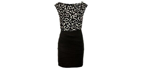 Dámske čierno-biele šaty Luci Paris s bodkami