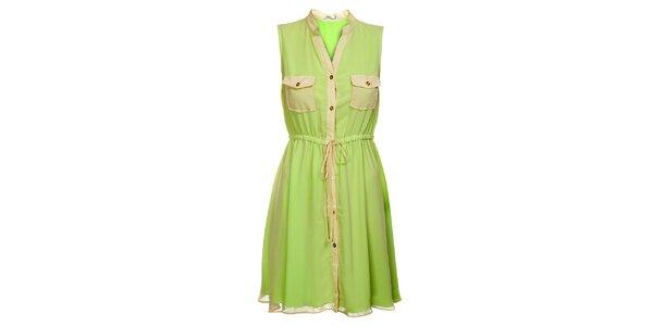 Dámske mentolové šaty Lucy Paris