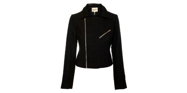 Dámsky čierny kabátik Lucy Paris so zipsom