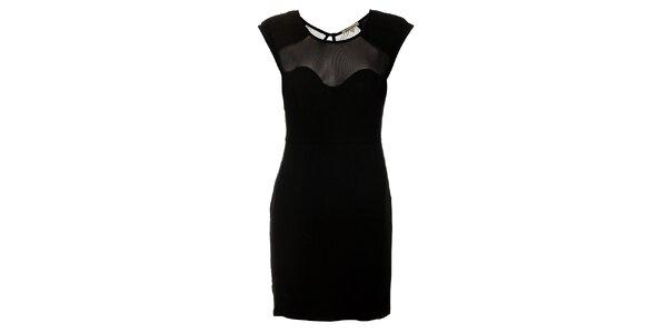 Dámske čierne púzdrové šaty Lucy Paris