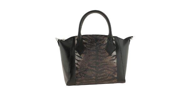 Dámska čierna kabelka s odopínacím popruhom Classe regina