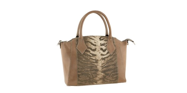 Dámska hnedá kabelka s odopínacím popruhom Classe regina