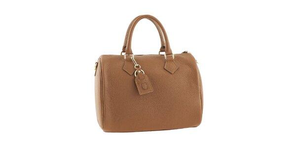 Dámska hnedá kabelka na zips Classe regina