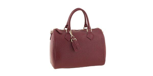 Dámska červená kabelka na zips Classe regina