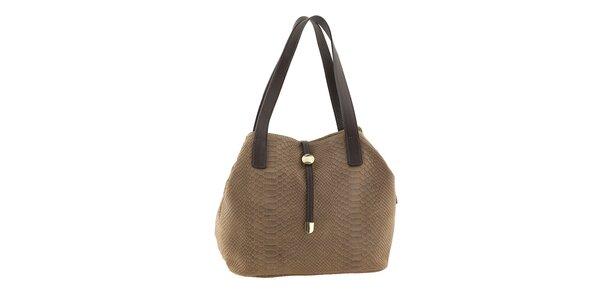 Dámska kožená kabelka so vzorom Classe regina