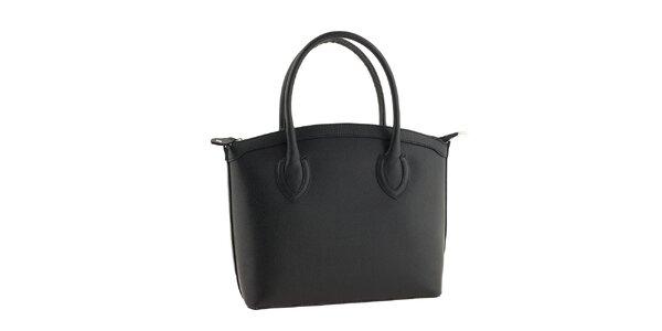 Dámska čierna kožená kabelka Classe Regina