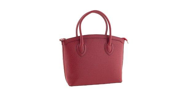 Dámska červená kožená kabelka Classe regina