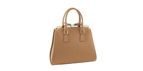 Dámska svetlo hnedá kufríková kabelka Classe regina