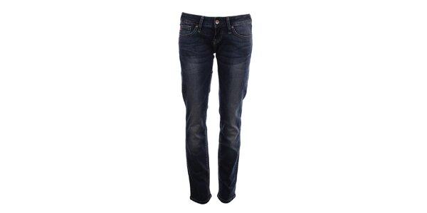 Dámske tmavé džínsy s dekoratívnym šisovaním Big Star