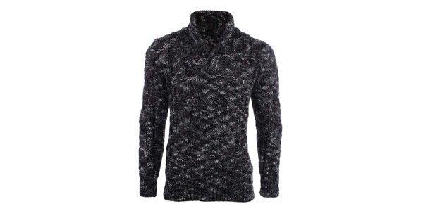 Pánsky žíhaný sveter s límčekom Big Star
