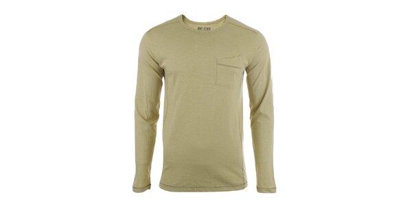 Pánske tričko s dlhým rukávom a vreckom Big Star