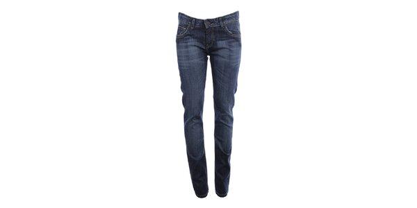 Dámske modré džínsy s ozdobným šisovaním Big Star