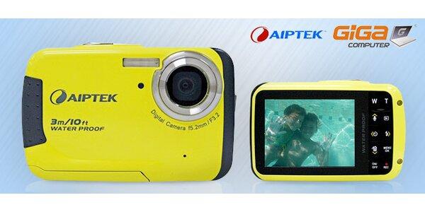 Kompaktný digitálny vodotesný fotoaparát Aiptek