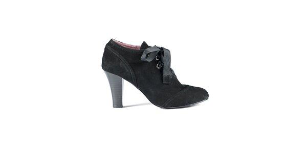 Dámske čierne semišové topánky Lise Lindvig
