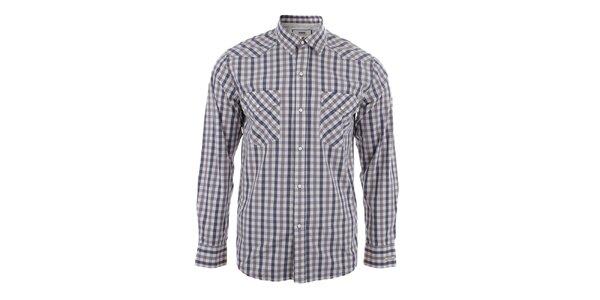 Pánska kockovaná košeľa s dlhým rukávom Big Star