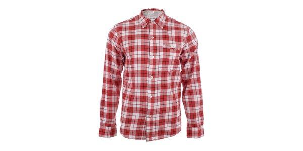 Pánska červená košeľa s kockovaným vzorom Big Star