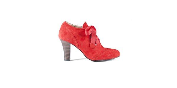 Dámske červené semišové topánky Lise Lindvig