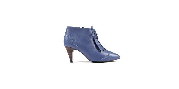 Dámske pastelovo modré kotníkové topánky Lise Lindvig