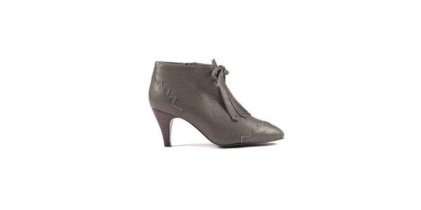 Dámske šedé kotníkové topánky Lise Lindvig