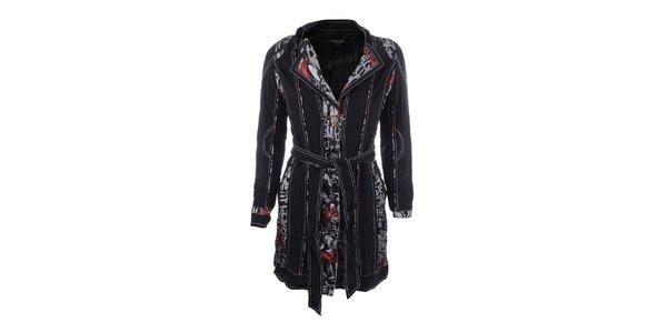 Dámsky ľahký čierny kabátik so vzorom Dislay DY Design