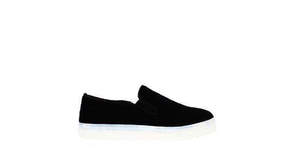 Dámske čierne topánky s bielou podrážkou Shoes and the City