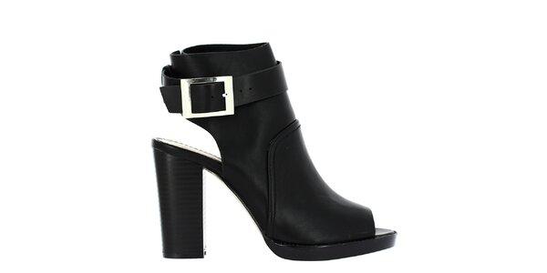 Dámske čierne topánky so striebornou prackou Shoes and the City