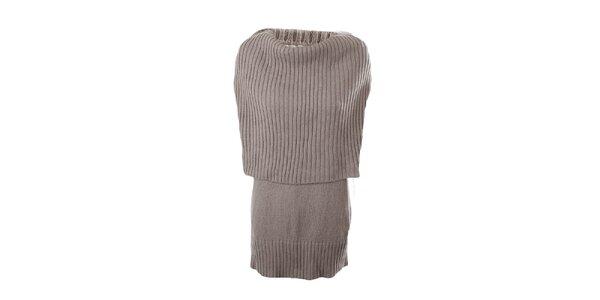 Dámske béžové svetrové šaty Pietro Filipi