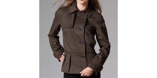 Dámsky hnedý krátky kabát Pietro Filipi
