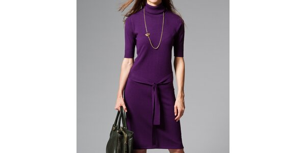 Dámske fialové šaty s roláčikom Pietro Filipi